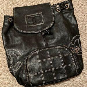 Black Chanel Backpack